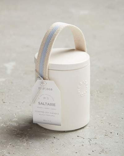 Mer-Sea Saltaire 12oz Stitched Handle Candle