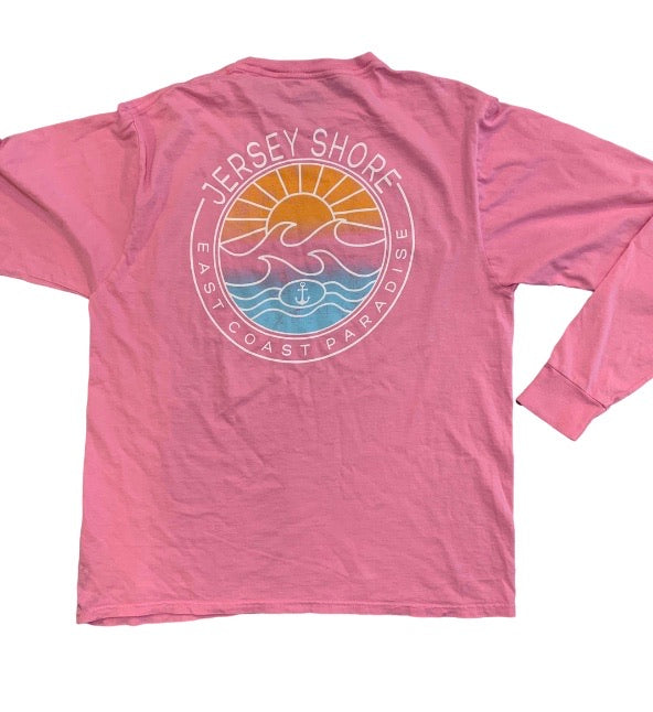 Jersey shore east coast paradise long sleeve  tee