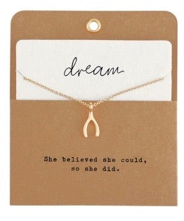 MudPie pazitive dream necklace