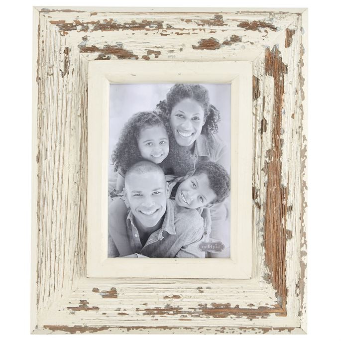 MudPie medium white weathered frame