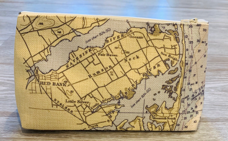 Jersey shore map pouch
