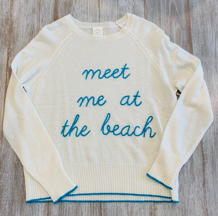Golden Sun Meet me at the beach Sweater