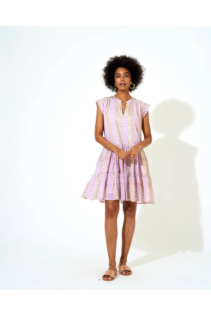 Roll sleeve dress- lilac Sonoma