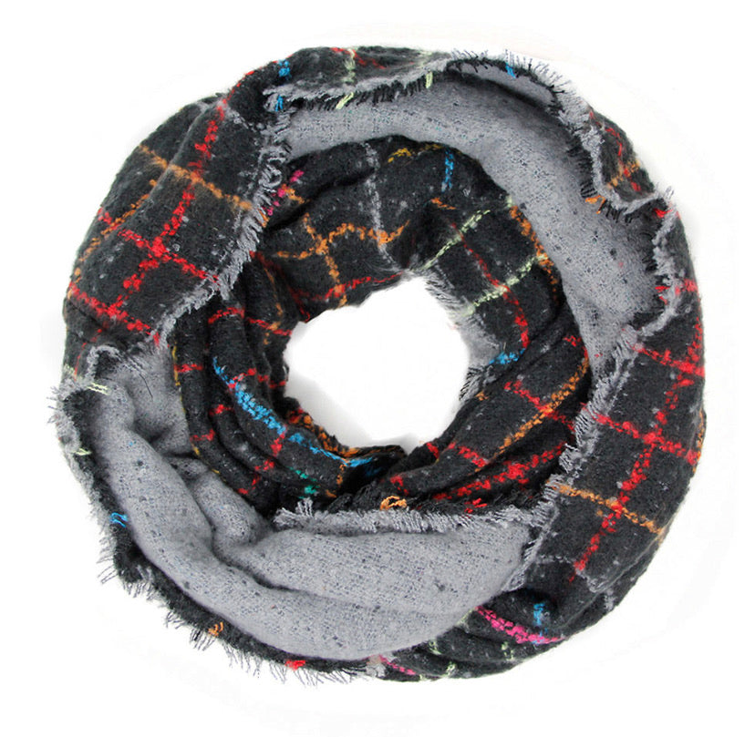 Windowpane infinity scarf