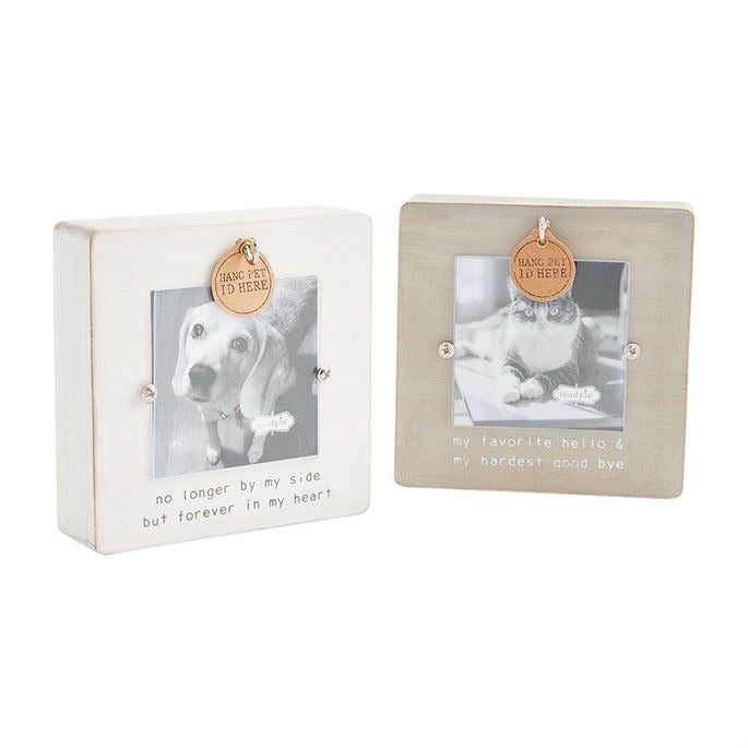 Remembrance pet tag frame