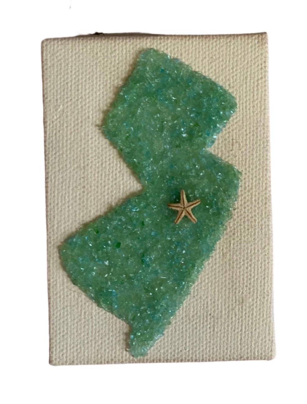 State of NJ ornament - sea glass solid