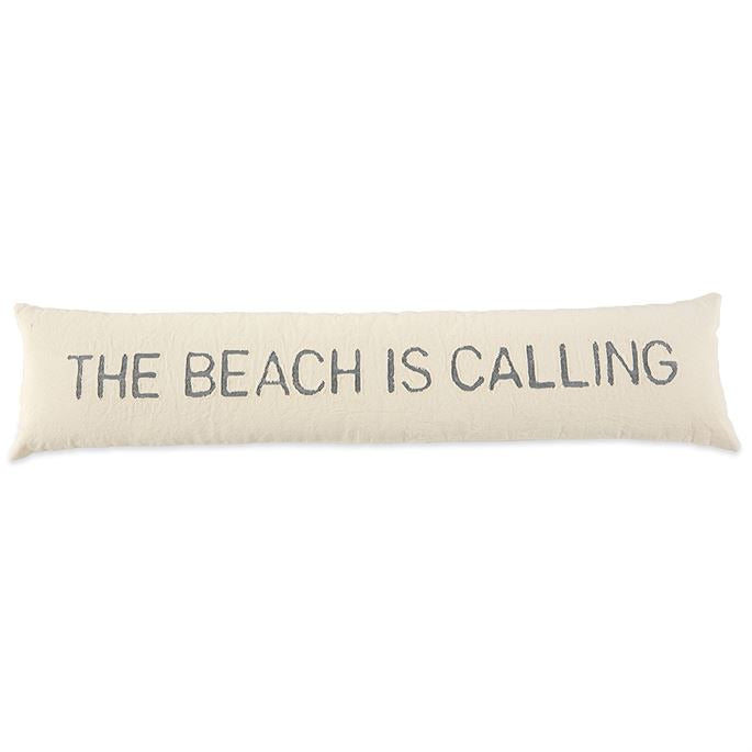 Mudpie The Beach is Calling Skinny Pillow