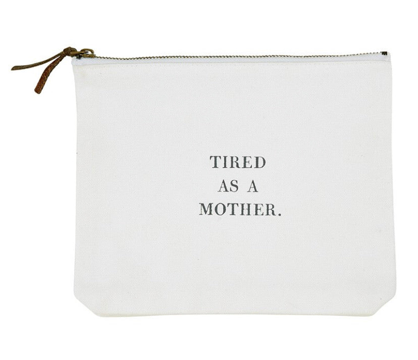 Canvas pouch with sayings