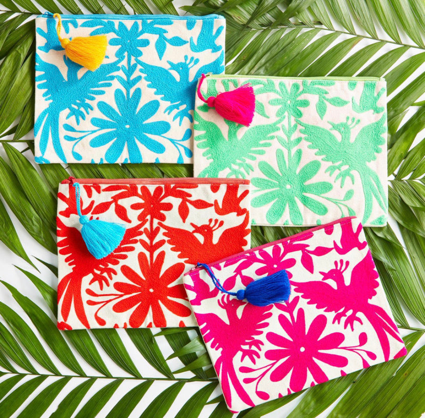 Twos Co Flora Pouches (4 colors)
