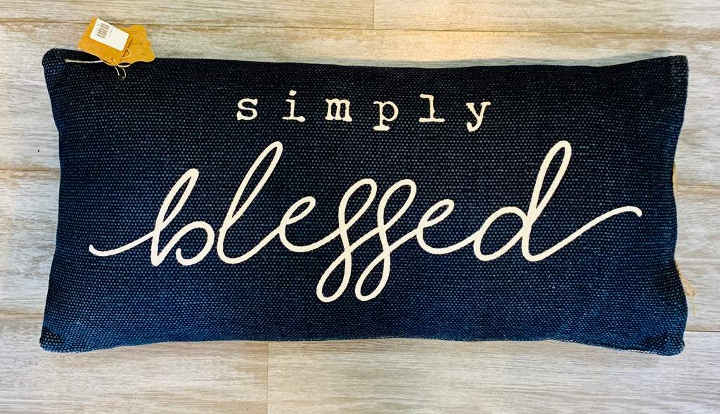 MudPie Simply Blessed Pillow