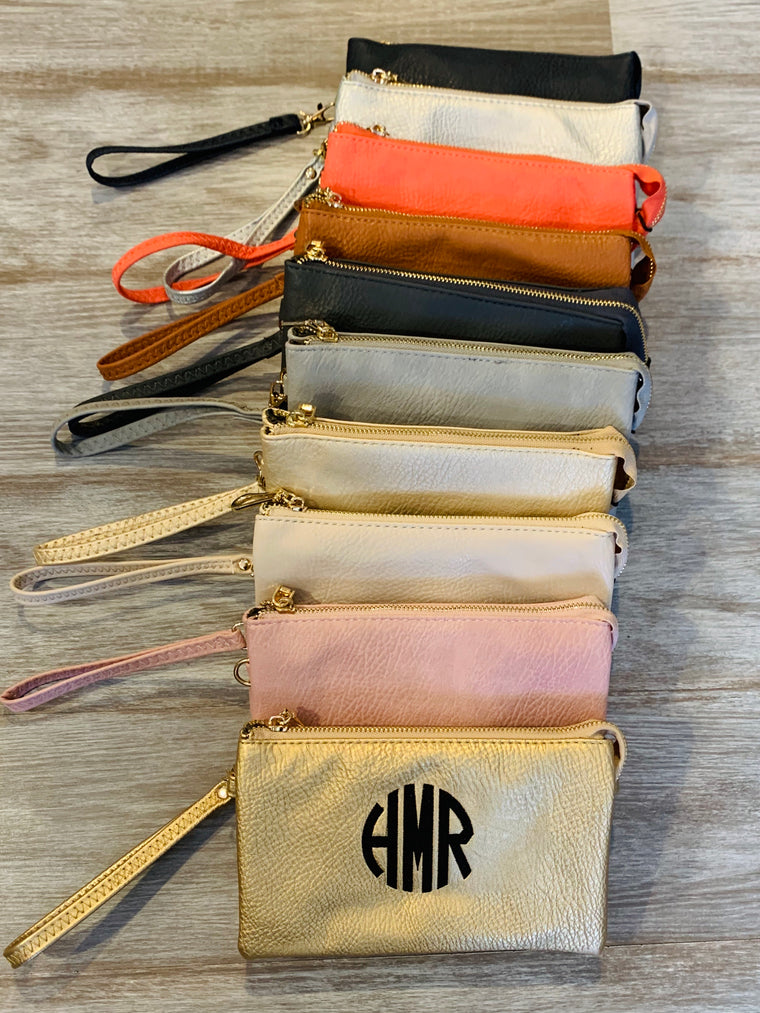 Compartment crossbody/clutch (9 colors)