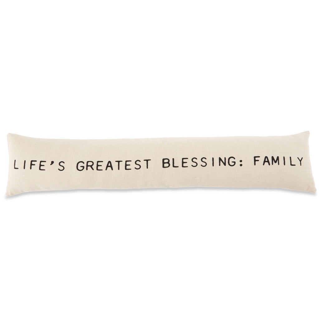 MudPie Greatest Blessing Family Pillow