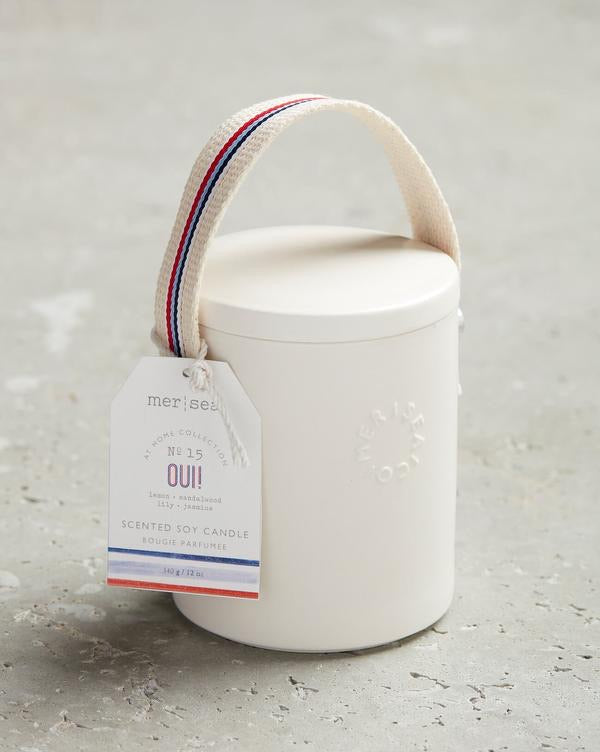 Mer- Sea OUI! 12oz Stitched Handle Candle