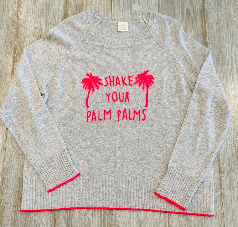 Golden Sun Shake your palm palms Sweater