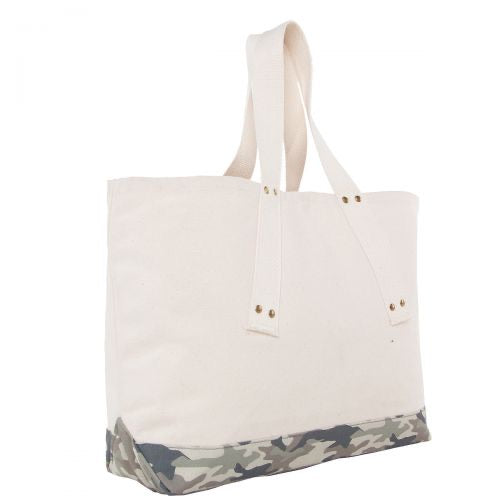 Grommet tote - light camo