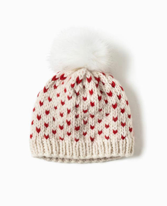 Little Hearts Pom Pom Hat