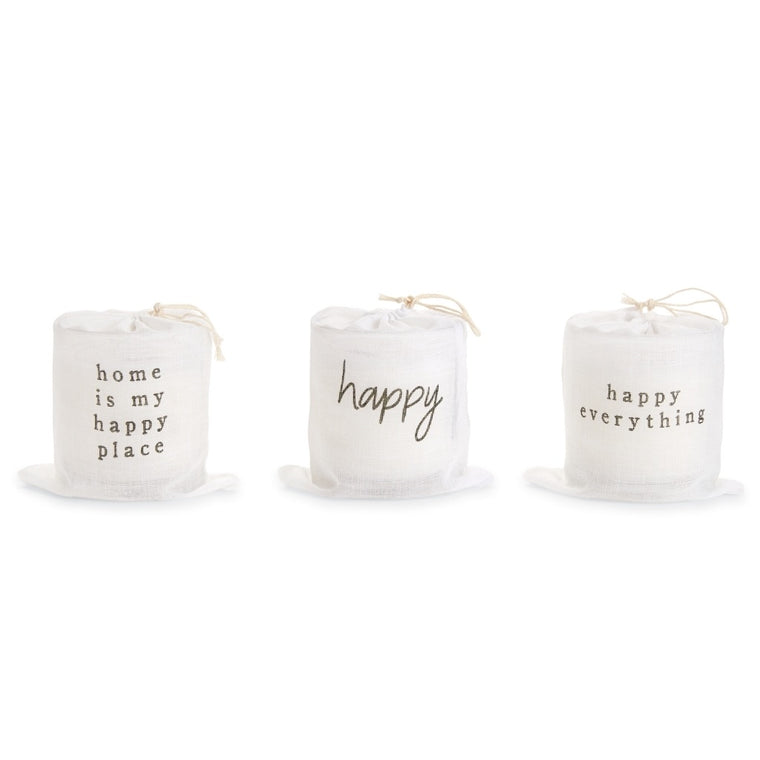 MudPie Happy Home bagged candle