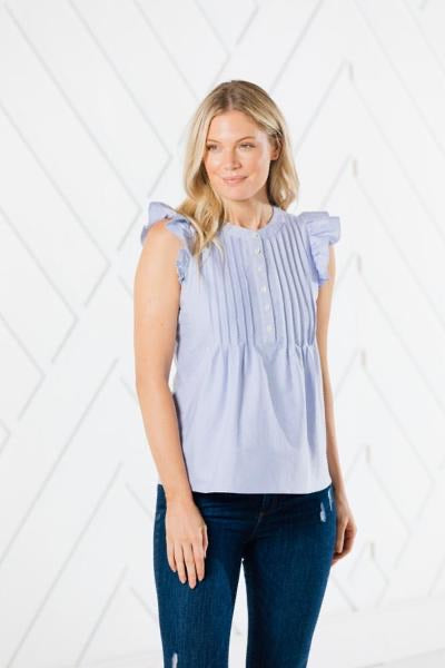 STS Button Flutter Sleeve Top