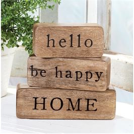 Hello happy home wood stackable blocks set