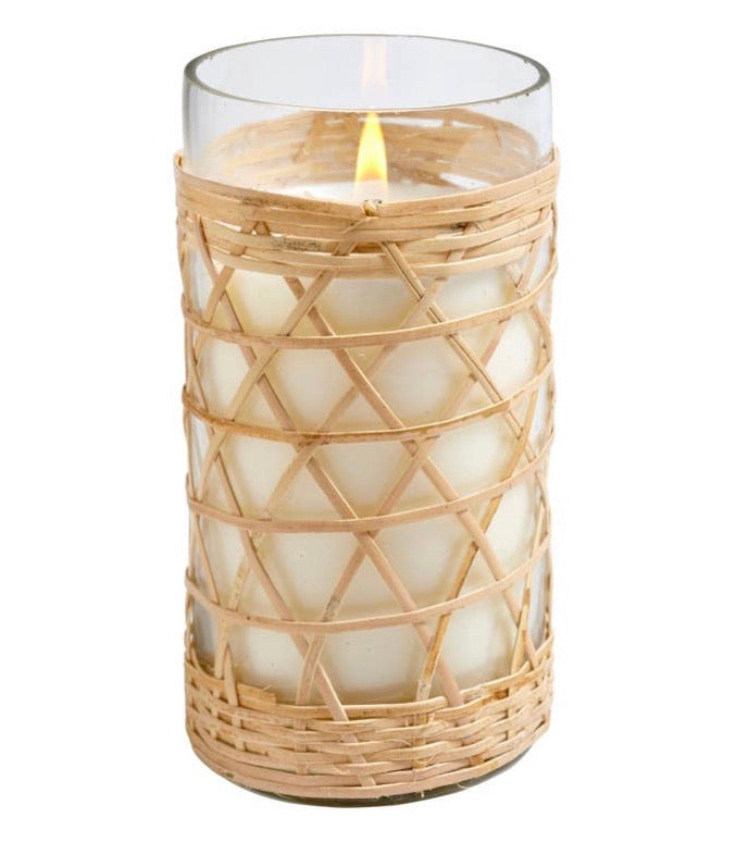 Sea and salt bamboo candle