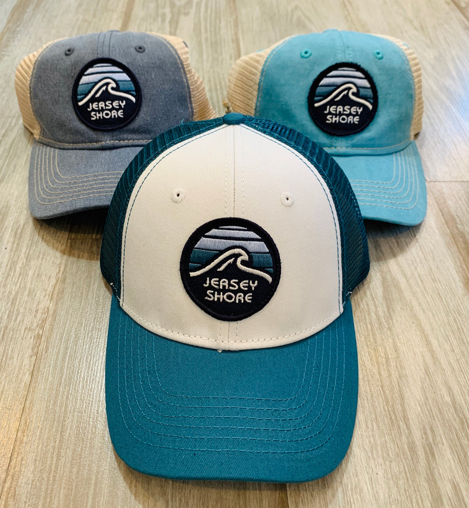 Blue 84 Jersey Shore wave patch hat