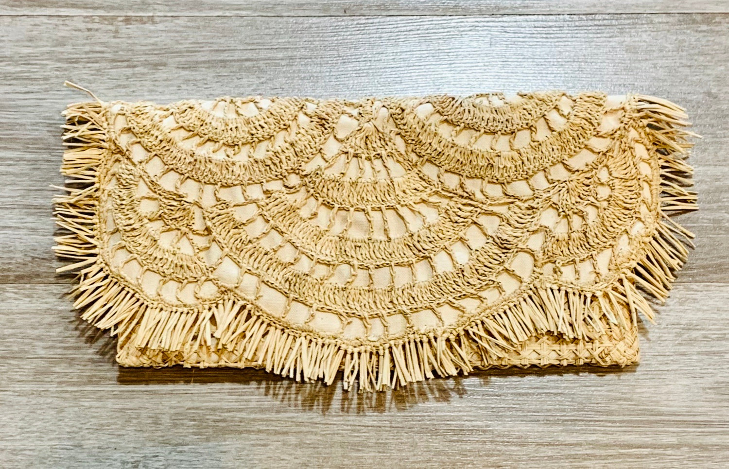 Handwoven Faith Clutch