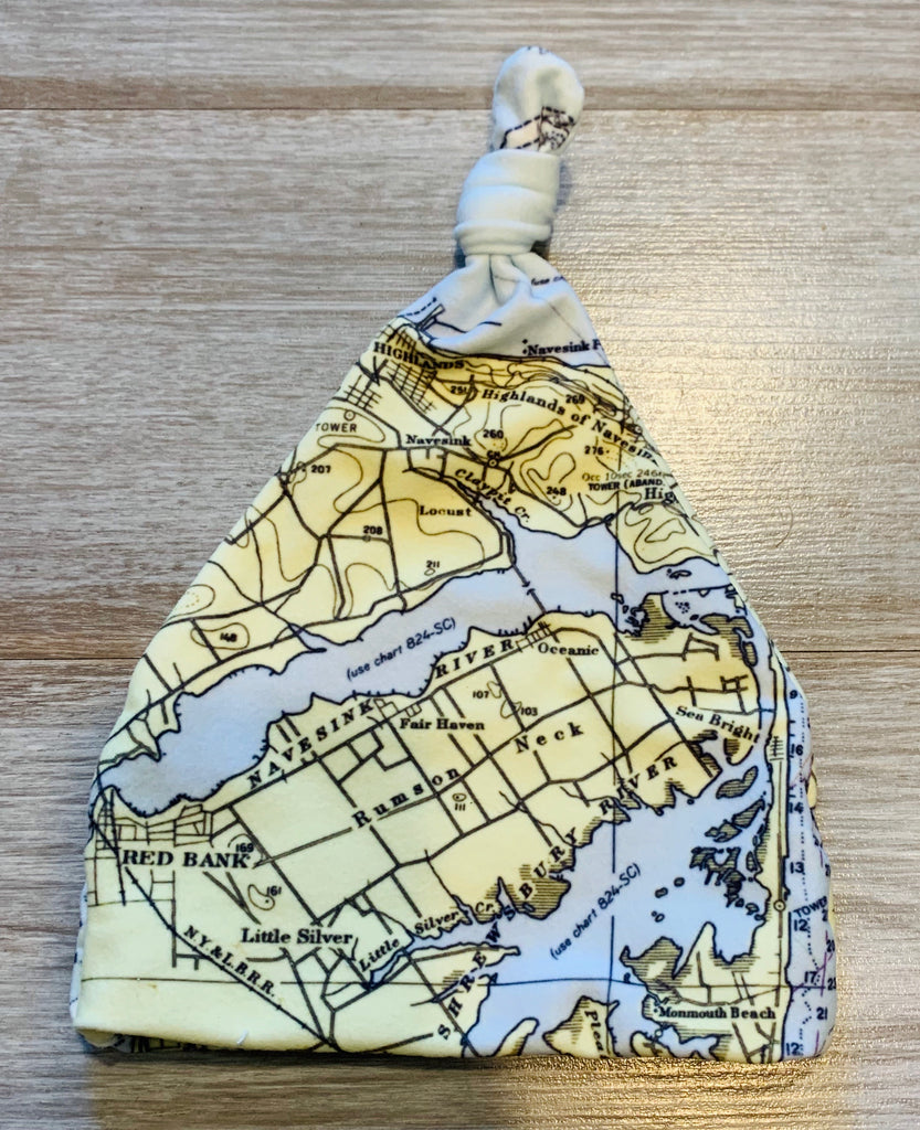Jersey Shore Local map baby hat