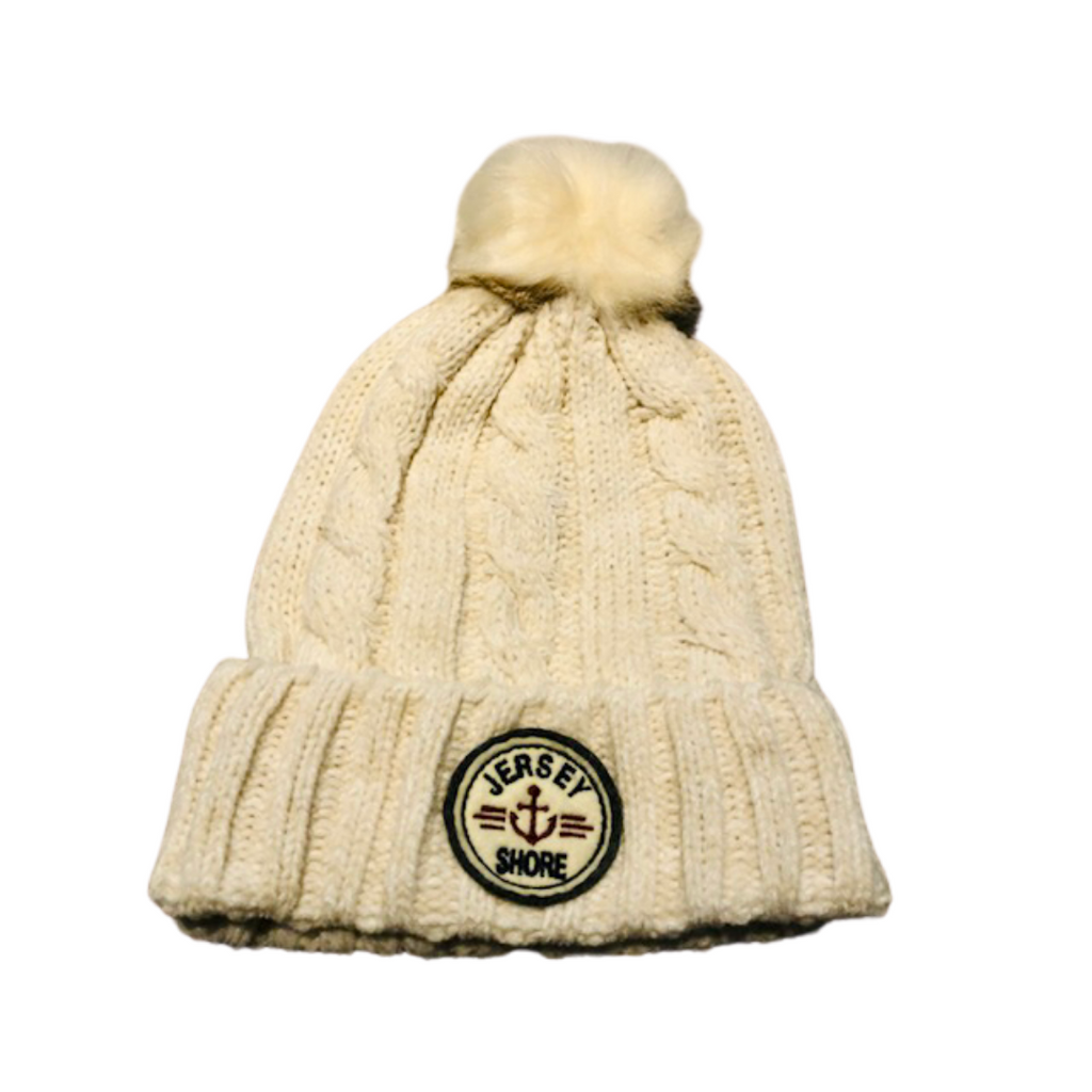 Jersey Shore Cable knit Pom Pom hat