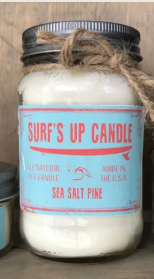 Sea Salt Pine Mason Jar Candle