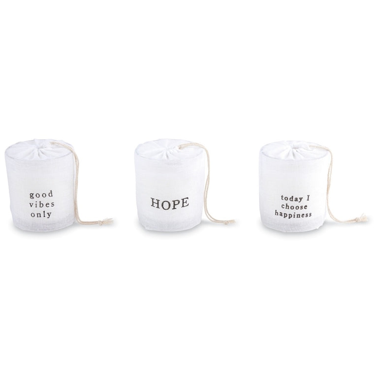 MudPie Paz-ititve bagged candle (options)