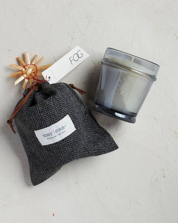 Herringbone bagged candle