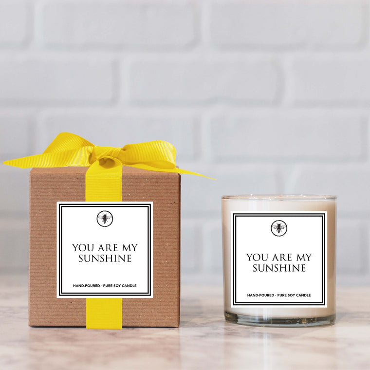 Ella b you are my sunshine candle