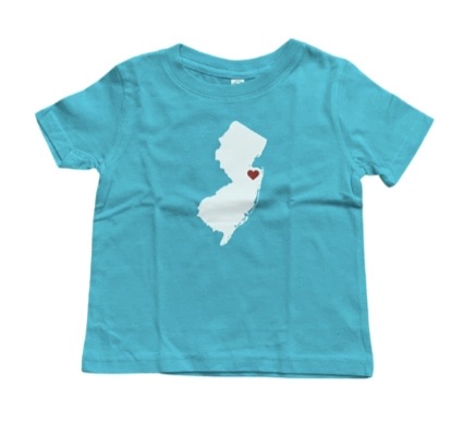 New Jersey with heart toddler tee