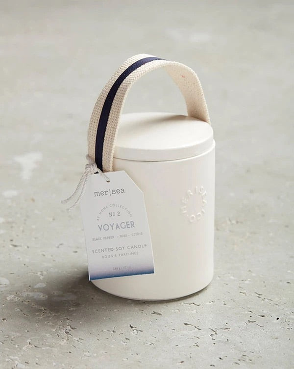 Voyager stitched handle candle