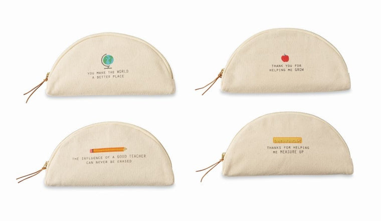 MudPie teacher half moon pouch