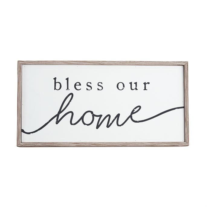 Mudpie Bless our home plaque