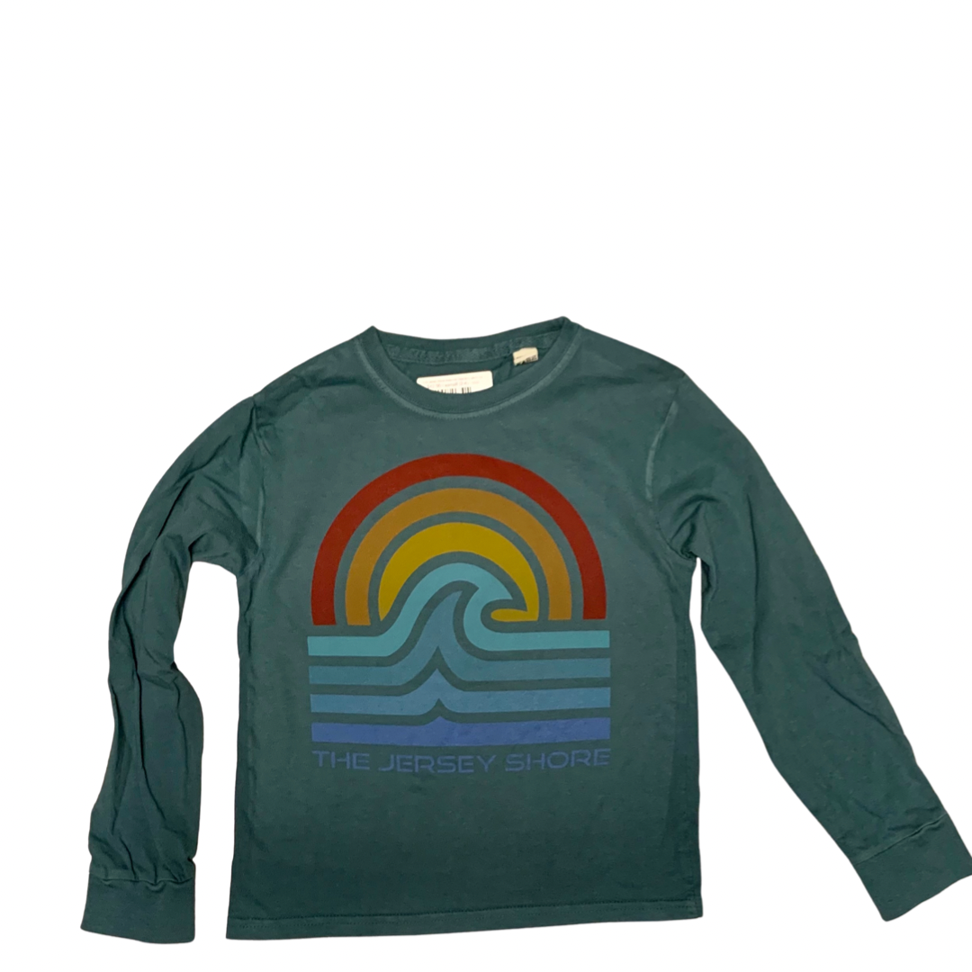 Kids Jersey Shore Aragonite wave long sleeve tee