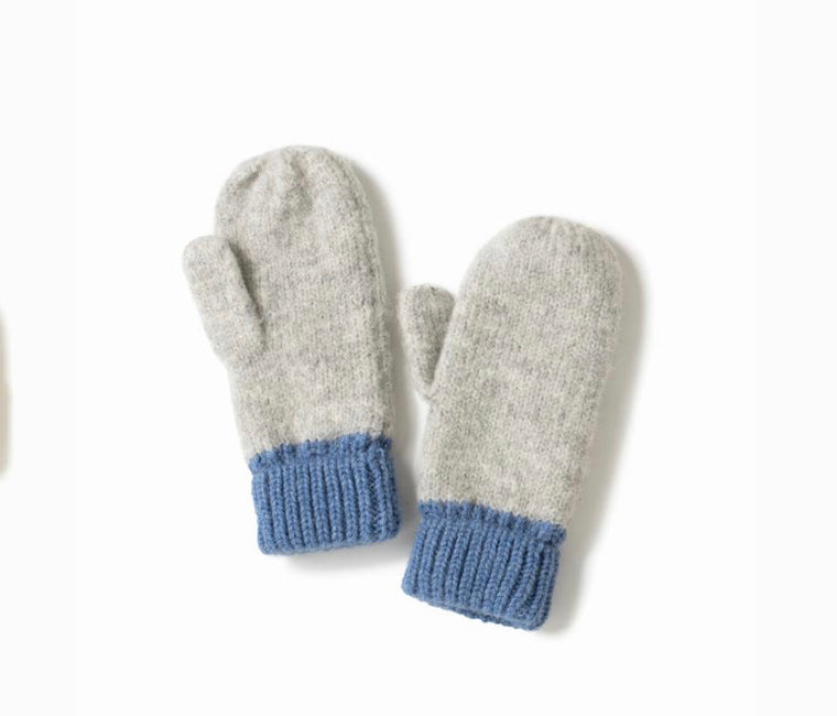 Cotton Candy Two Tone Mittens