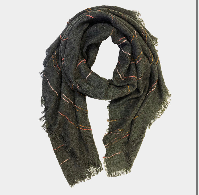 Stitched stripe scarf