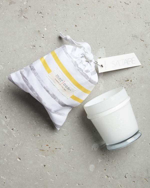 Mer-Sea Saltaire 7oz Striped Sandbag Candle