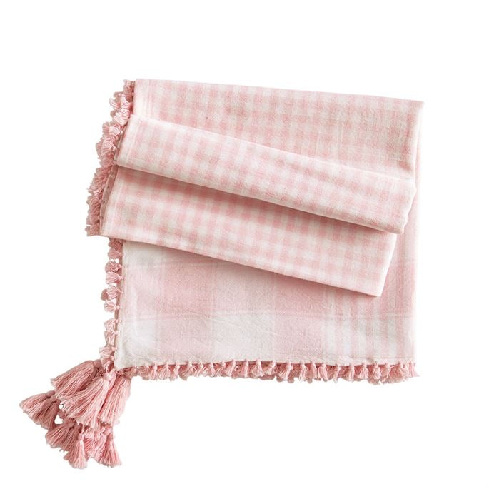 MudPie plaid tassel scarf (3 colors)