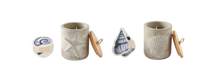 MudPie Concrete outdoor candle & matchbook (2 styles)
