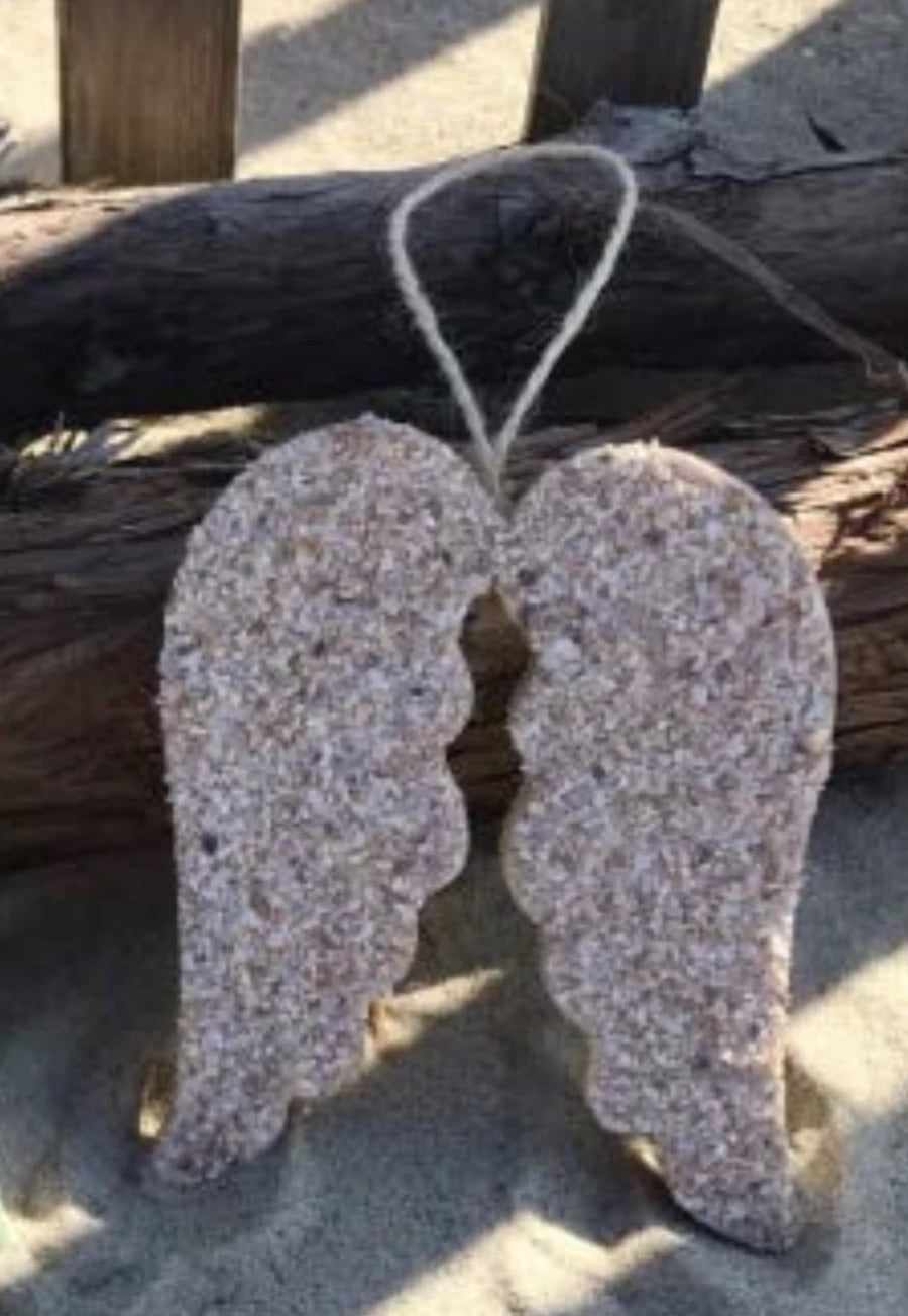 Angel wings sand ornament