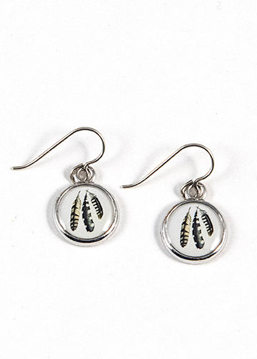 Earrings - Seed and Sky - Feathers