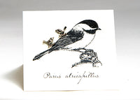 Earrings - Silver Chickadees