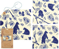 Bee's Wrap Assorted 3 Pack - Bees and Bear Print
