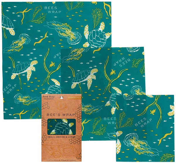 Bee's Wrap Assorted 3 Pack - Oceans Print