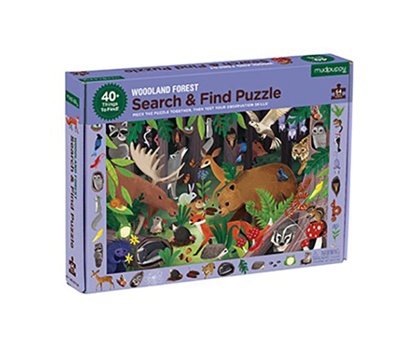 Woodland Forest Search and Find 64 Piece Puzzle