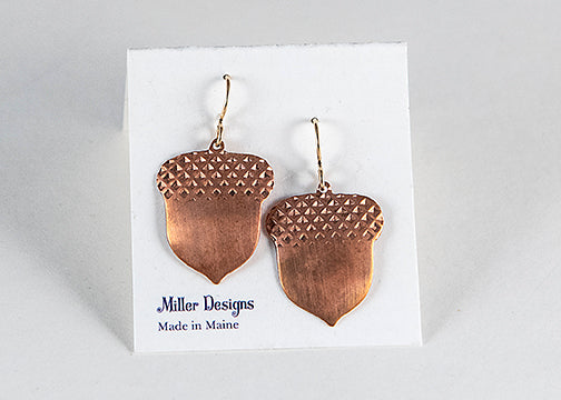 Earrings - Copper Acorns