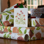 Pretty Flours Wrapping Paper - Zinnias